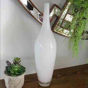 Hand Made white Glass Vase